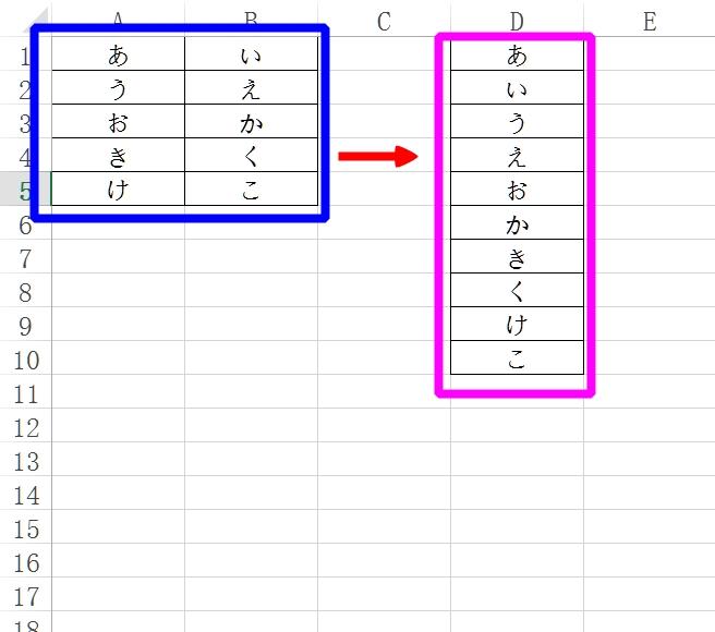Excel講座(8)―2列のデータを1列に並べる方法大公開!